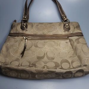 Large Coach tote.. used